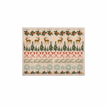"Famenxt ""Christmas Vibes"" Holiday Pattern KESS Naturals Canvas (Frame not Included)"