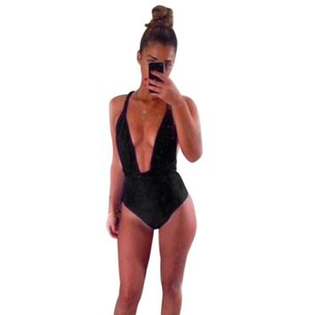 Bikini One Piece Swimwear Black/Red