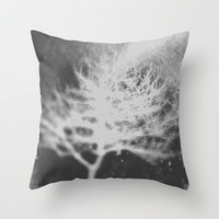 White Tree Throw Pillow by Deniz Erçelebi