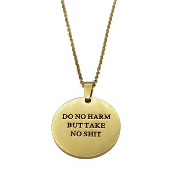 Do No Harm Circle Necklace