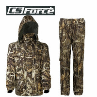 Tactical Outdoor Bionic Waterproof Uniform Camouflage Breathable Hunting Clothes Suit Fleece Military Uniform Hunter Equipment
