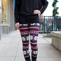 Holiday Frost Leggings - BLACK / ONE