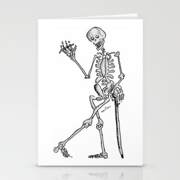 Skeleton Stationery Cards by Josep Mestres
