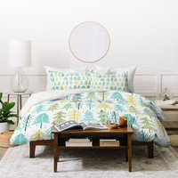 Heather Dutton Oh Christmas Tree Frost Duvet Cover