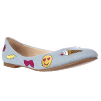Betsey Johnson Leoniee Ballet Flats - Denim Fab