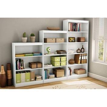 3,4,5-shelf Bookshelf Bookcase Display for Dorm, Home Office, Living Room Kids Room