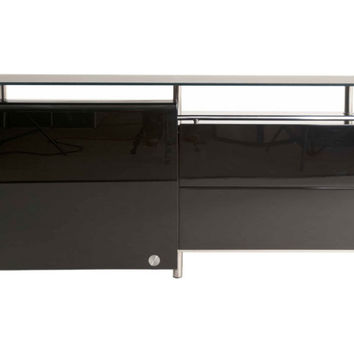 "Carlisle 71"" Buffet, Black, Acrylic / Lucite, Buffets & Sideboards"