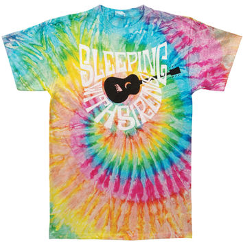 Sleeping With Sirens Men's  Guitar Tie Dye T-shirt White