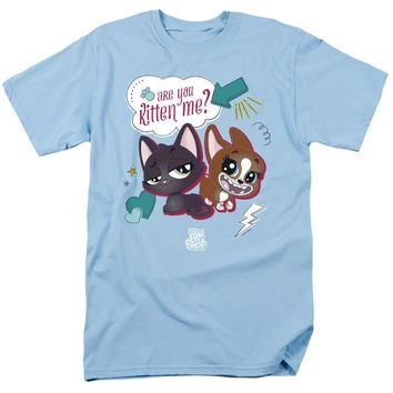 Littlest Pet Shop T-Shirt Are You Kitten Me Light Blue Tee