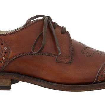 Brown Leather Wingtip Oxford Goodyear Shoes