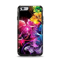 The Abstract Bright Neon Floral Apple iPhone 6 Otterbox Symmetry Case Skin Set