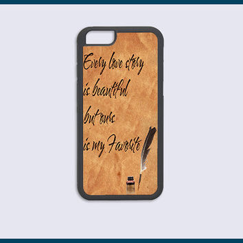 iPhone 6 Plus Case, iPhone 6 Case, iPhone 5C Case, iPhone 5 5s Case, iPhone 4 4s Case, Our Story Quote Design Best Top Cover