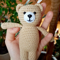 Crochet bear, crochet amigurumi bear, crochet toy bear