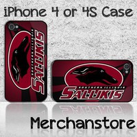 Southern Illinois Salukis Logo Custom iPhone 4 or 4S Case Cover