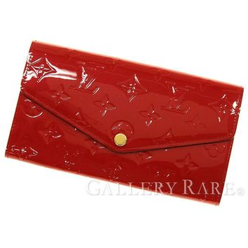 Louis Vuitton Portefeuille Sarah Vernis Cerise Wallet M90208 Authentic 4560838