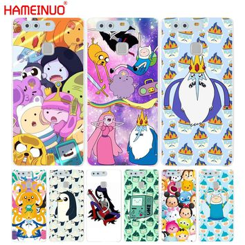 HAMEINUO Adventure time Cartoon Coque Cover phone Case for huawei Ascend P7 P8 P9 lite plus G8 G7 honor 5C 2017