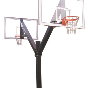 First Team Legend Supreme DUAL In Ground Fixed Height Outdoor Basketball Hoop 72 inch Acrylic