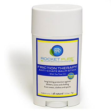 """Natural Anti-chafe Balm """"No-Mess Stick"""" Protects Against Chafing, Blisters from Clothes, Sweat, Sports. Runners, Cyclists, Triathletes: Will Glide on Your Body or Chamois. Paraben Free. Made in USA."""