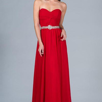 PRIMA C1387 Red or Blue Prom Dress Plus Sizes Available