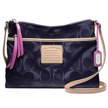 COACH LEGACY WEEKEND SIGNATURE NYLON HIPPIE