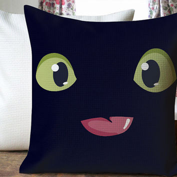 Toothless Night Furry Beautiful Design Cover for  Pillow Cover 18 x 18 inches