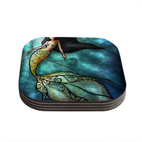 "Mandie Manzano ""Mermaid"" Coasters (Set of 4)"
