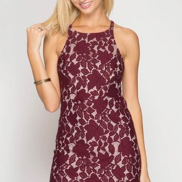 Copy of Fitted Bodycon Lace Dress