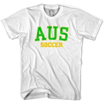 Australia AUS Soccer Country Code T-shirt-Adult