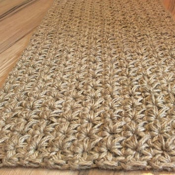 Large Doormat Crochet jute rope door rug Handmade