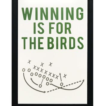 """Philly Special Poster - Winning is for the Birds Art Print - 13x19"""""""