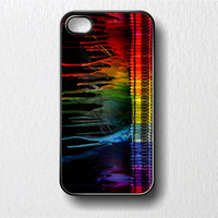 Colors  Melting Crayons Iphone 4 Case i Phone 4 4s by GoldPrinter