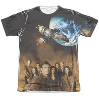 Short Sleeve Regular Fit T-Shirt Front or Front/Back Print Poly/Cotton - Firefly-Cast - Adult