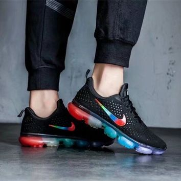 """Nike"" Men Sport Casual Fashion Multicolor Rainbow Sneakers Running Shoes"