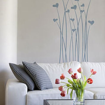 heart flowers wall stickers by sunny side up | notonthehighstreet.com