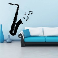 Vinyl Saxophone Wall Sticker