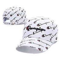 Champion Summer Women Men Embroidery Sports Sun Hat Baseball Cap Hat White