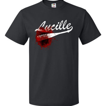 The walking dead - Negan Lucille bloody barbed wire Baseball bat t-shirt