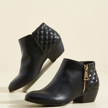 Kicking and Screening Block Heel Bootie | Mod Retro Vintage Boots | ModCloth.com