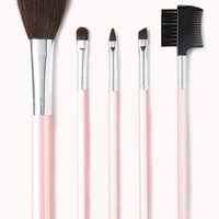 Striped I Need Lipstick Cosmetic Brush Set