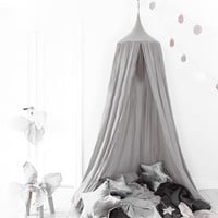 240cm Canopy Bed Netting Mosquito Bedding Net Baby Kids Play Tents Cotton linen