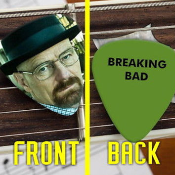 Set of 3 Breaking Bad Walter White Heisenberg premium Promo Guitar Pick Pic