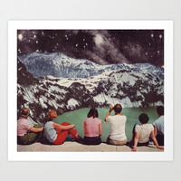 GLACIAL Art Print by Beth Hoeckel Collage & Design