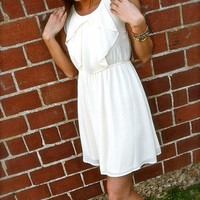 Cream Bow Day Dress | The Rage
