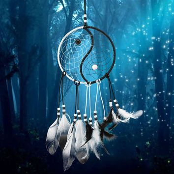 Hot Sale New Design Dream Catcher Circular White Feathers Wall Hanging Decoration Decor Craft