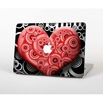 The Industrial Red Heart Skin for the Apple MacBook Air 13""