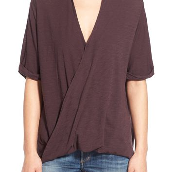 Michelle by Comune & Comune 'Upland' Surplice Short Sleeve Top | Nordstrom