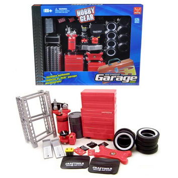 Garage Accessories Set For 1-24 Scale Diecast Models by Phoenix Toys