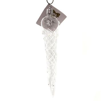 Golden Bell Collection Icicle W/ Ice Drops Glass Ornament