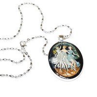 Dead Can Dance, Wicca Pendant, Wiccan Style Cameo Pendant Necklace