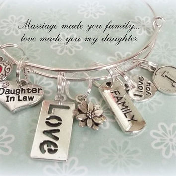 Daughter-In-Law Gift, Personalized Gift, Initial Jewelry, Family Jewelry, Daughter-in-law jewelry